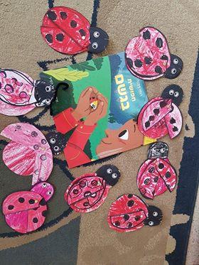 ילדי גן מיטל בהר חומה ציירו וצבעו חיפושיות
