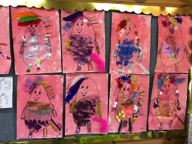 בגן גלית בבית יהושע הילדים יצרו דמויות של מישו