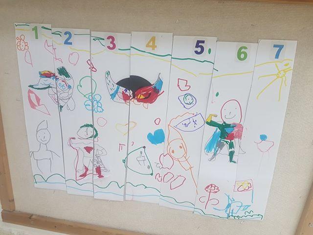 הילדים בגן נרקיס בעלמה יצרו פאזל מציור משותף על גיבורי-על
