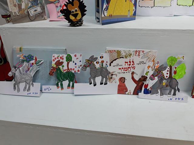 בית ספר בן צבי רמלה - ציורים בעקבות הספר