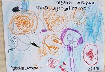 ילדי גן ערבה באשדוד ציירו את חדרו של איתמר ואת הצעצועים בעקבות